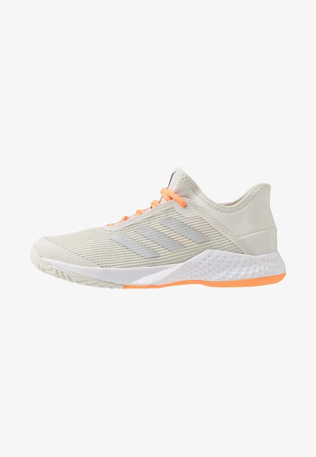 ADIZERO CLUB - All court tennisskor - orbit grey/silver metallic/signal orange