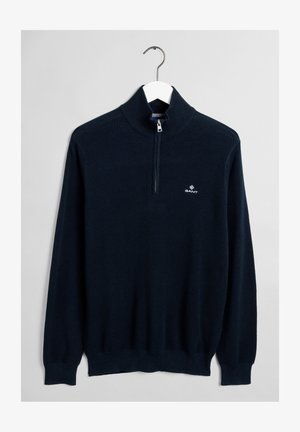 Stickad tröja - evening blue
