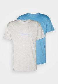 ESSENTIAL REGULAR 2 PACK UNISEX - T-shirt med print - blue