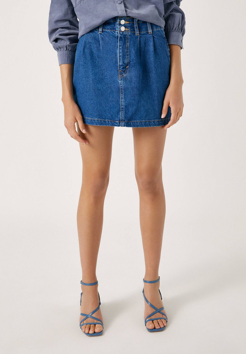 PULL&BEAR - Gonna di jeans - blue