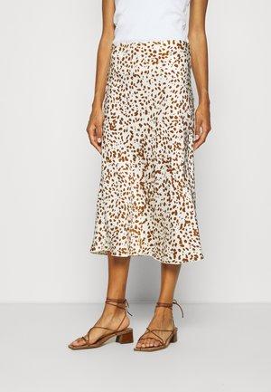 OLANDA LEO - A-line skirt - soft stone