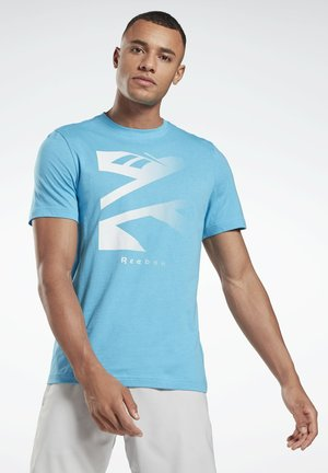 VECTOR FADE GRAPHIC T-SHIRT - T-shirt med print - turquoise
