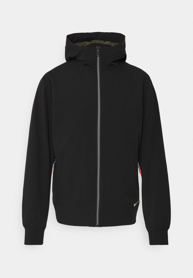 HOODED JACKET - Chaqueta fina - black