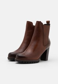 Marco Tozzi - BOOTS - High heeled ankle boots - cognac - 2