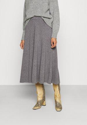 PAOLA - Áčková sukně - dark grey melange