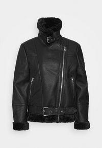 Topshop Petite - CASSY - Faux leather jacket - black - 5