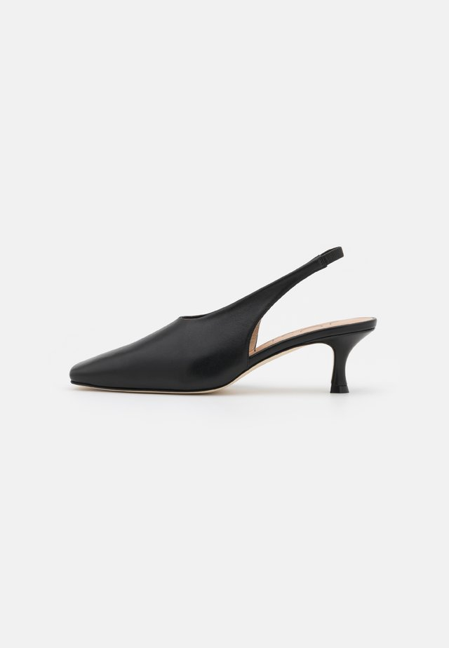 SQUARED TOE SLINGBACK - Pumps - black