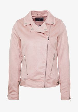 SUEDETTE BIKER JACKET - Faux leather jacket - blush