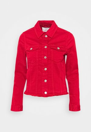 Denim jacket - true red