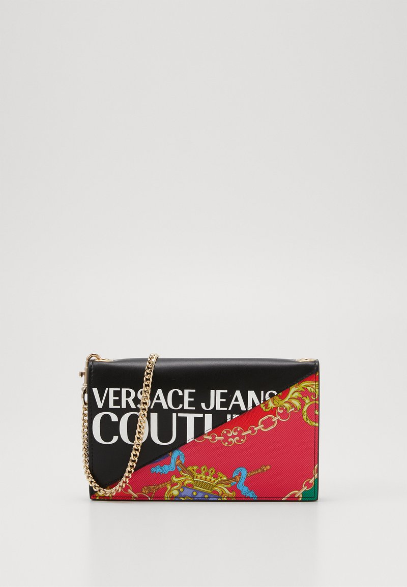 Versace Jeans Couture - CHAIN WALLET ON STRAP BAROQUE LOGO - Borsa a tracolla - nero