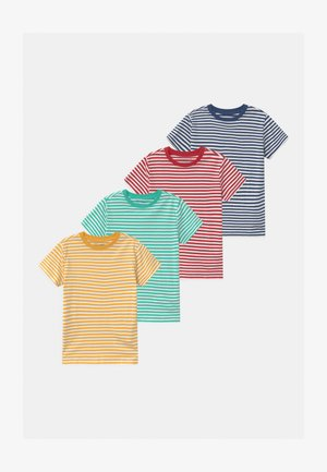4 PACK - T-Shirt print - blue/turquoise/red