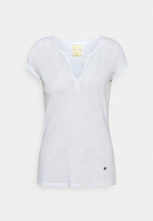 TROY TEE - Jednoduché triko - white