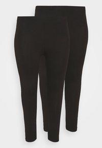 2 PACK - 7/8 LENGHT LEGGING - Leggings - Trousers - black