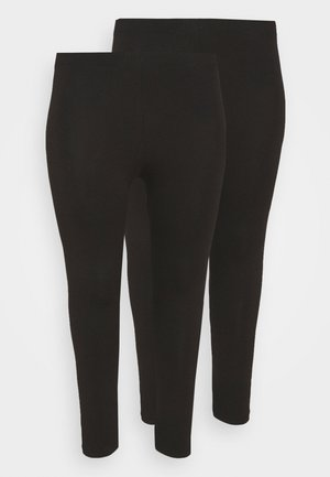 2 PACK - 7/8 LENGHT LEGGING - Leggings - Trousers - black