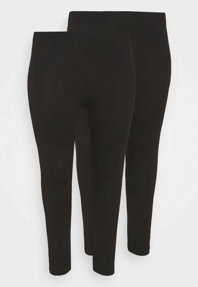 2 PACK - 7/8 LENGHT LEGGING - Leggings - black