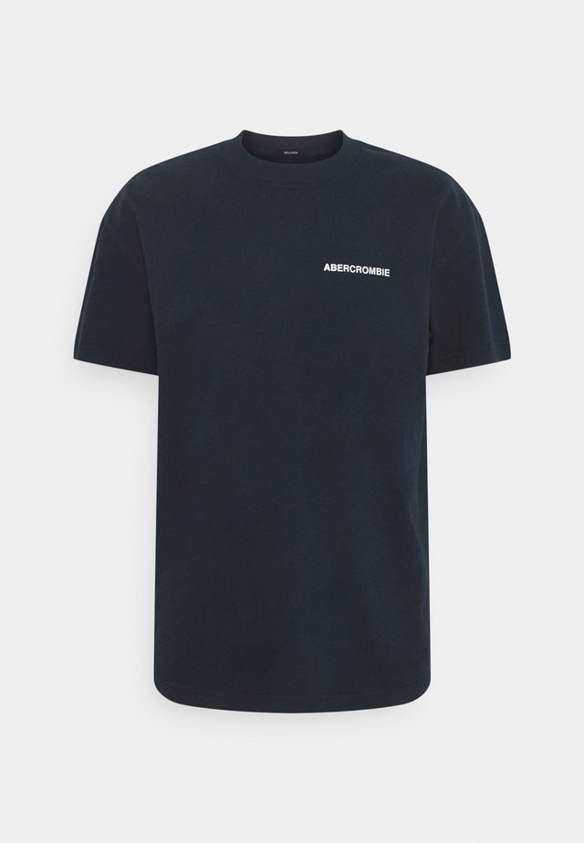 CIRCLE FOIL GRAPHIC - T-shirt con stampa - navy
