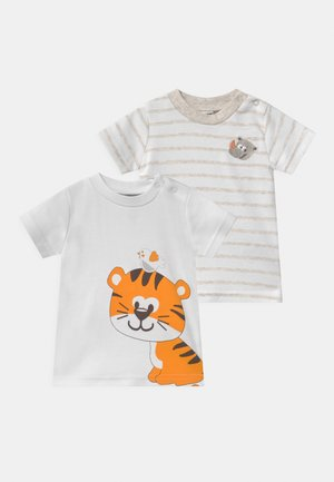 2 PACK UNISEX - Print T-shirt - white