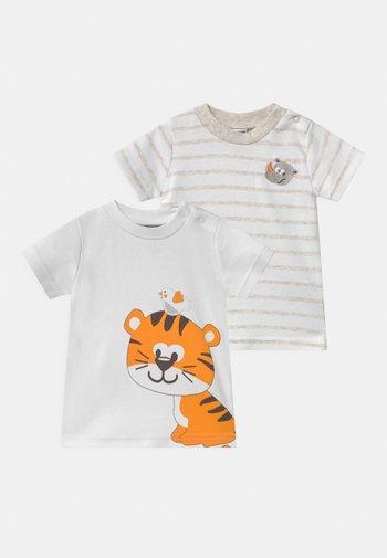 2 PACK UNISEX - Print T-shirt - white