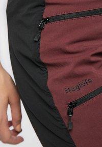 Haglöfs - Sports shorts - maroon red/true black - 3