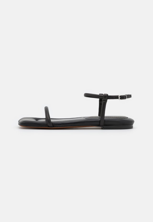 SQUARE PADED FLAT - Sandalen - black