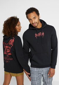 Pier One - UNISEX - Sweat à capuche - black - 0