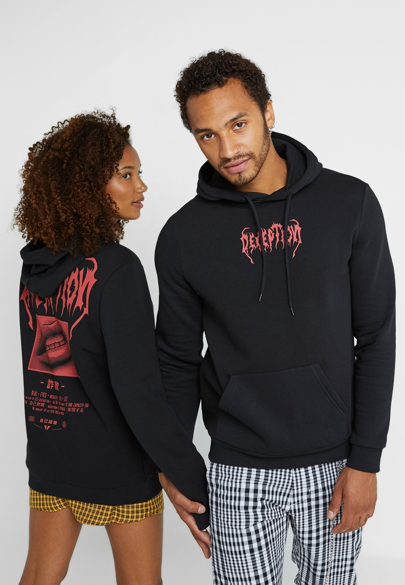 Pier One - UNISEX - Sweat à capuche - black