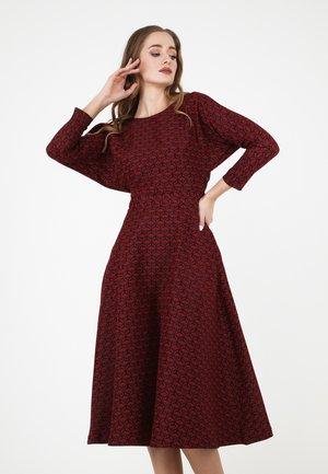 ASUANA - Day dress - schwarz rot