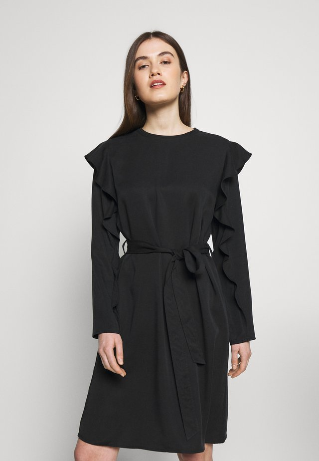 DRESS KLEO - Vapaa-ajan mekko - black