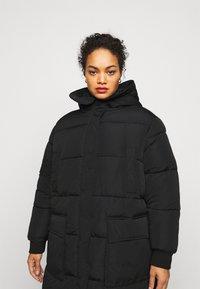 Pieces Curve - PCSEVIGNE PADDED JACKET - Winter coat - black - 3