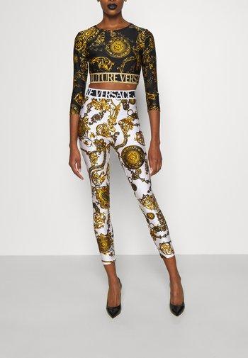 Long sleeved top - black/gold