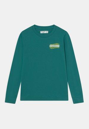 MULTIHIT PRINT LOGO - Langærmede T-shirts - teal