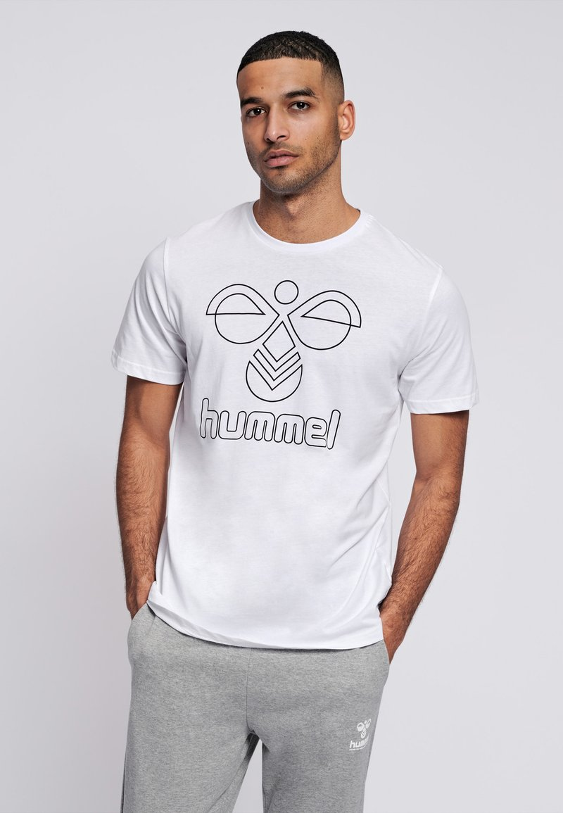 Hummel - HMLPETER  - T-shirt med print - white