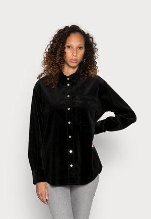 LONGSLEEVE SNAP BUTTONS - Button-down blouse - black