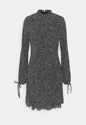 HIGH NECK ALINE DRESS - Day dress - black