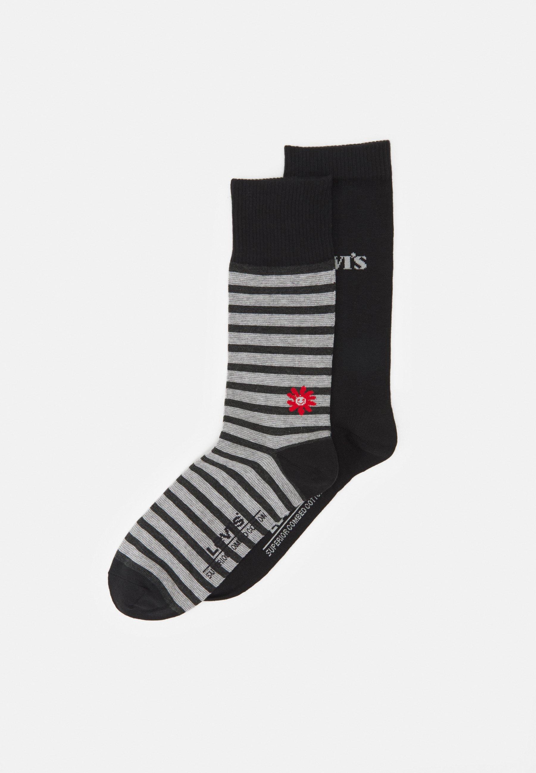 Men REG CUT STRIPE FLOWER 2 PACK - Socks