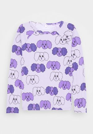 FLUFFY DOG UNISEX - Long sleeved top - purple