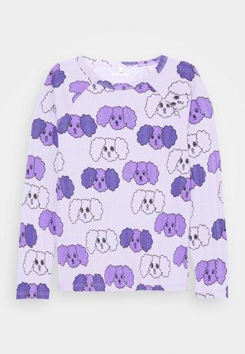 FLUFFY DOG UNISEX - Long sleeved top - purple