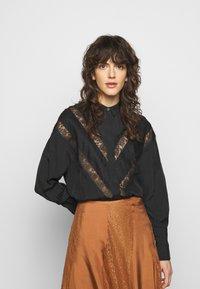 By Malene Birger - LUETA - Button-down blouse - black - 0