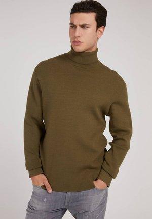 HOHER KRAGEN - Sweatshirt - grün