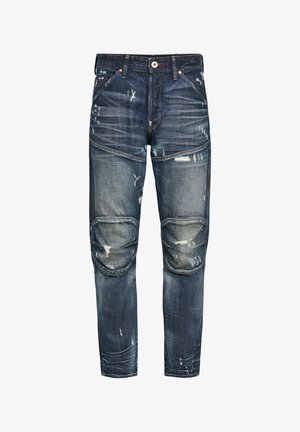 5620 3D ORIGINAL RELAXED TAPERED - Jean boyfriend - antic faded tarnish blue destroyed