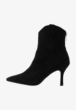 WIDE FIT KAISON - Cowboystøvletter - black
