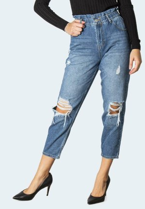 ONLOVA LIFE HW CARROT ANK MB DES DNM MAE - Relaxed fit jeans - blue denim