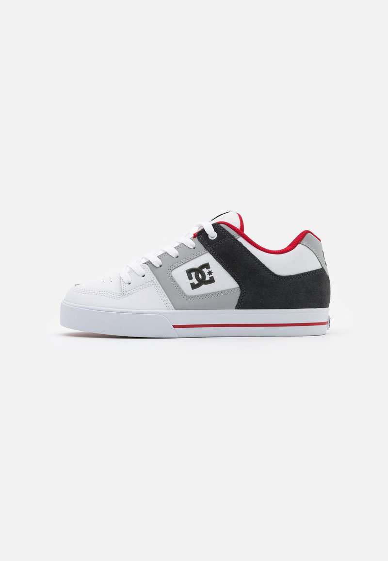 DC Shoes - PURE - Obuwie deskorolkowe - white/grey/red
