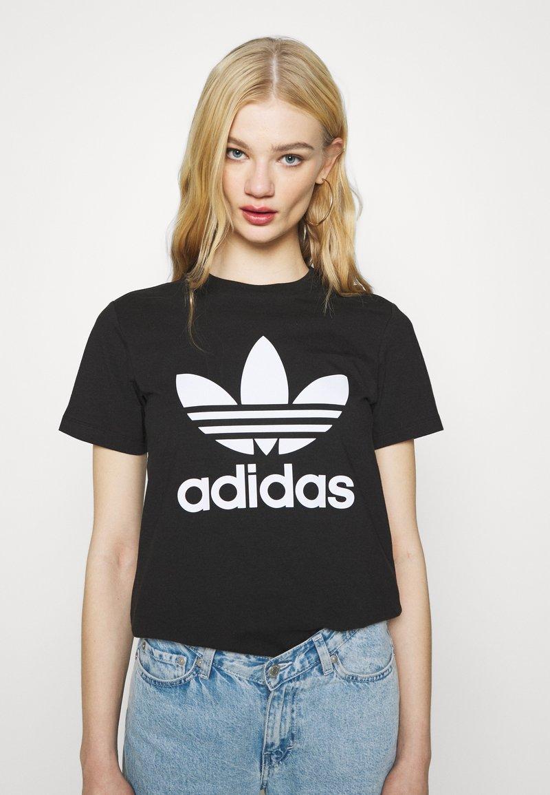 adidas Originals - TREFOIL TEE - T-Shirt print - black