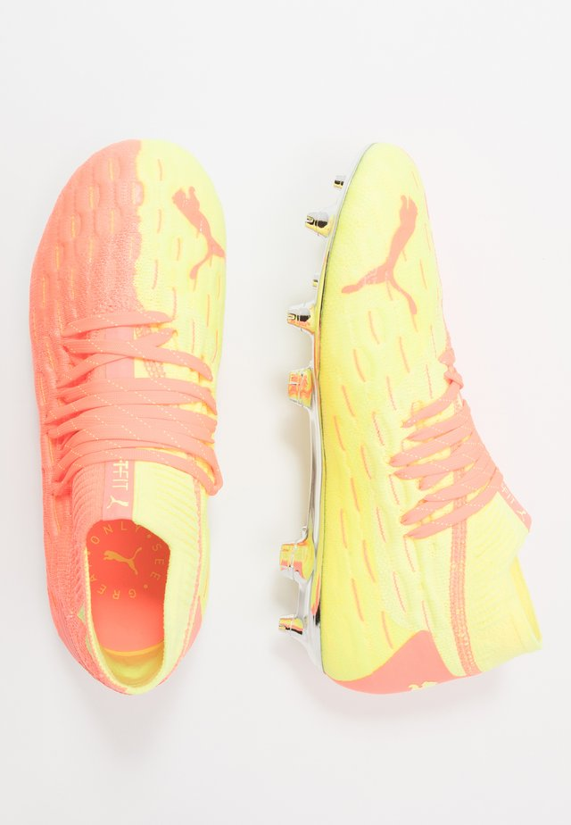 FUTURE 5.1 NETFIT FG/AG  - Moulded stud football boots - energy peach/fizzy yellow