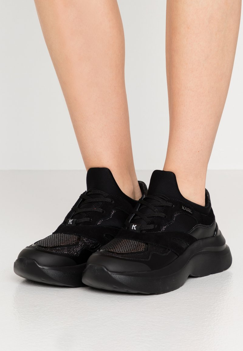 KARL LAGERFELD - SKYLINE DELTA LO LACE MIX - Trainers - black