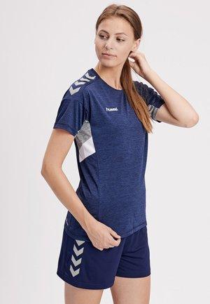 TECH MOVE - Print T-shirt - mottled blue