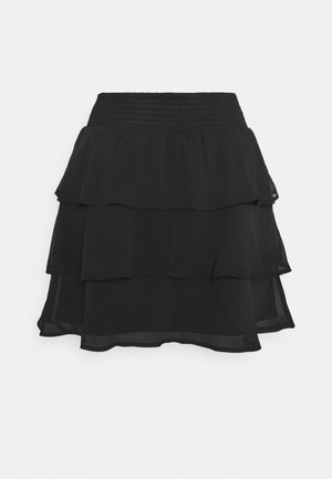 EXCLUSIVE ARCHER FRILL SKIRT - Mini skirt - black