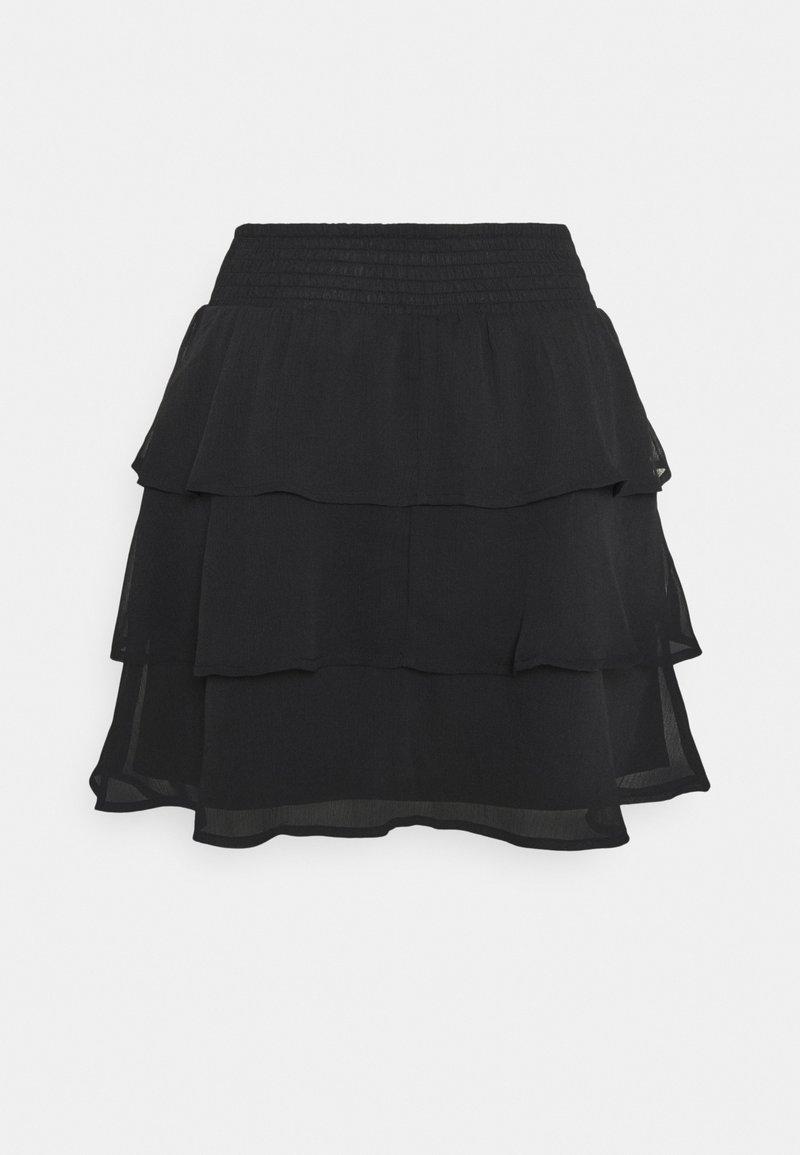 Gina Tricot - EXCLUSIVE ARCHER FRILL SKIRT - Mini skirt - black