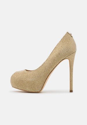 Høye hæler med åpen front - gold